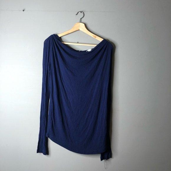Club Monaco blue long sleeve top medium